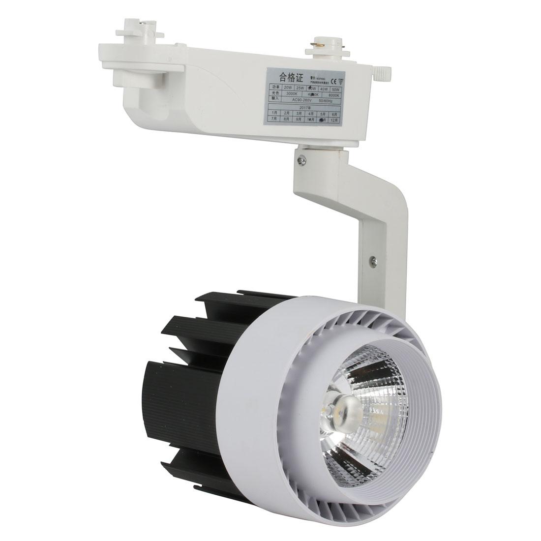 AC165-230V 24W COB Chip LED Ceiling Track Rail Light Spotlight Neutral Light
