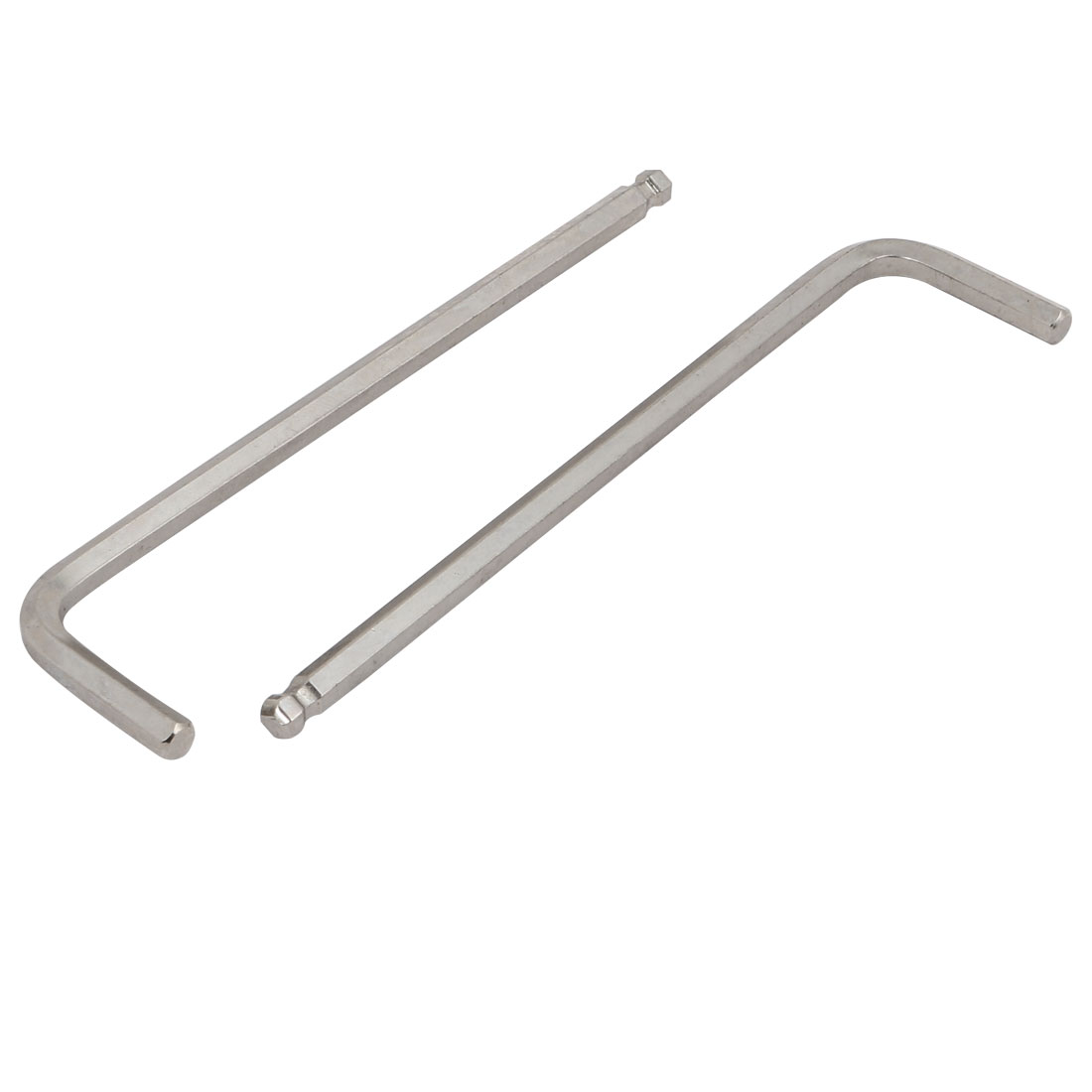 3/16-inch CR-V Steel Long Arm Ball End Point Hex Key L-Wrench 120mm Length 2pcs
