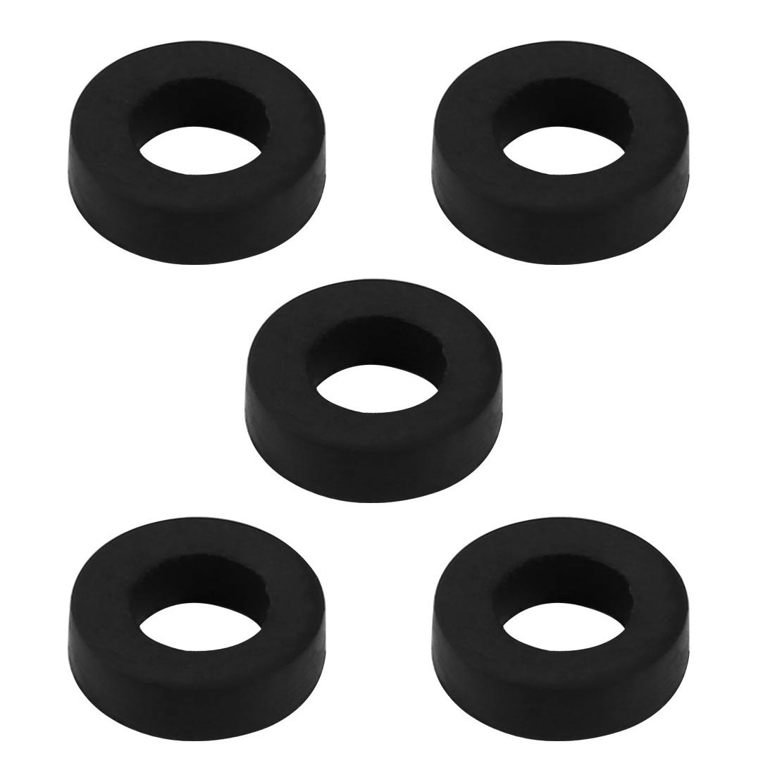 5pcs Black Rubber Round Flat Washer Assortment Size 6x11x3mm Flat Washer