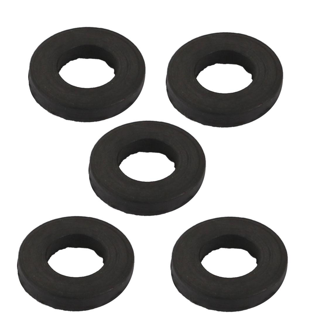 5pcs Black Rubber Round Flat Washer Assortment Size 5x9x1.5mm Flat Washer