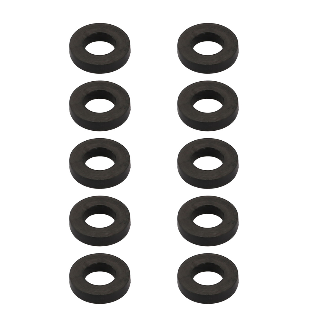 10pcs Black Rubber Round Flat Washer Assortment Size 4x7.3x1.5mm Flat Washer