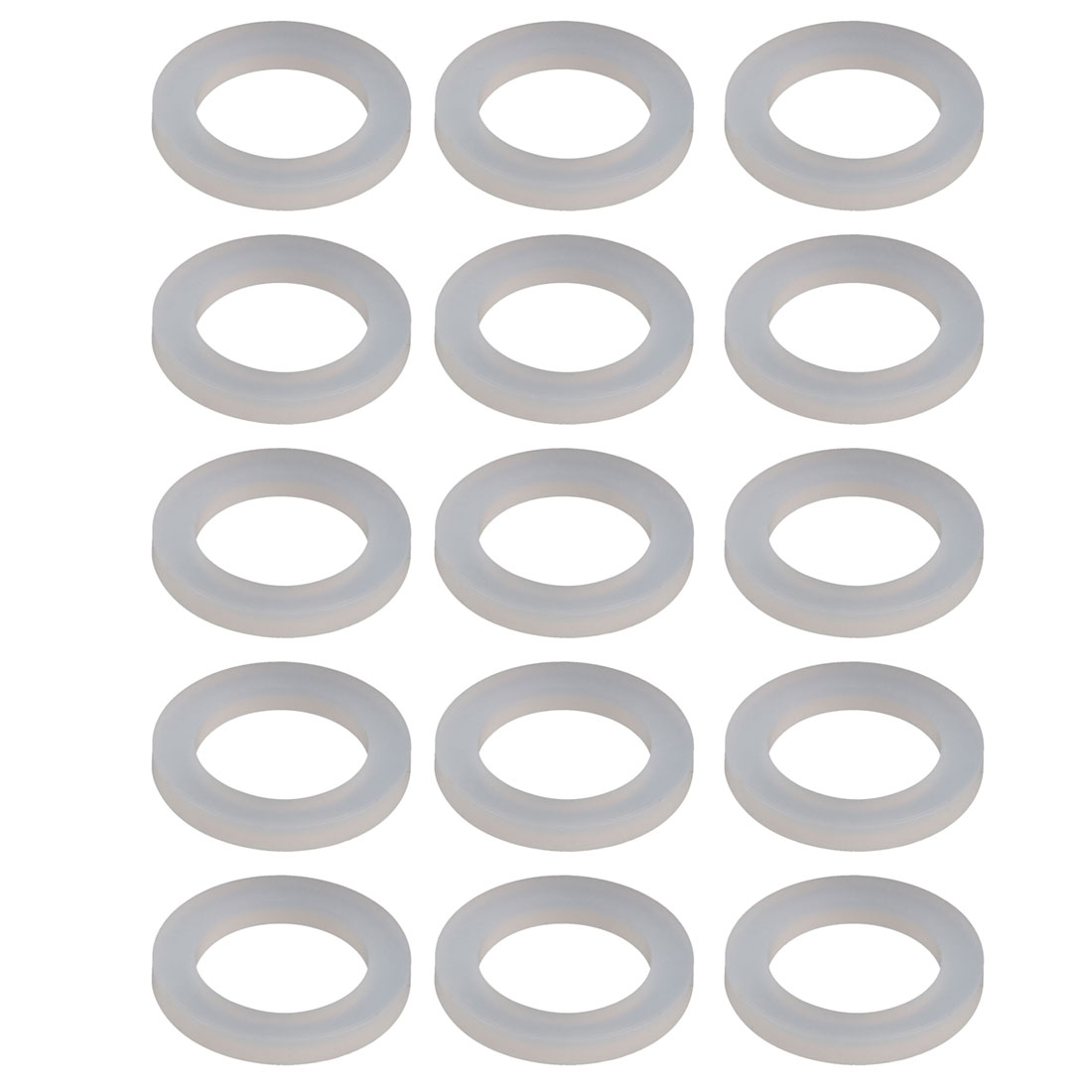 15pcs White Silica Gel Round Flat Washer Assortment Size 16x24x3mm Flat Washer