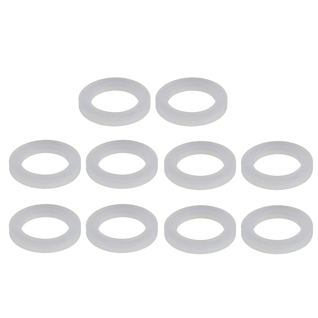 10pcs White Silica Gel Round Flat Washer Assortment Size 16x24x3mm Flat Washer