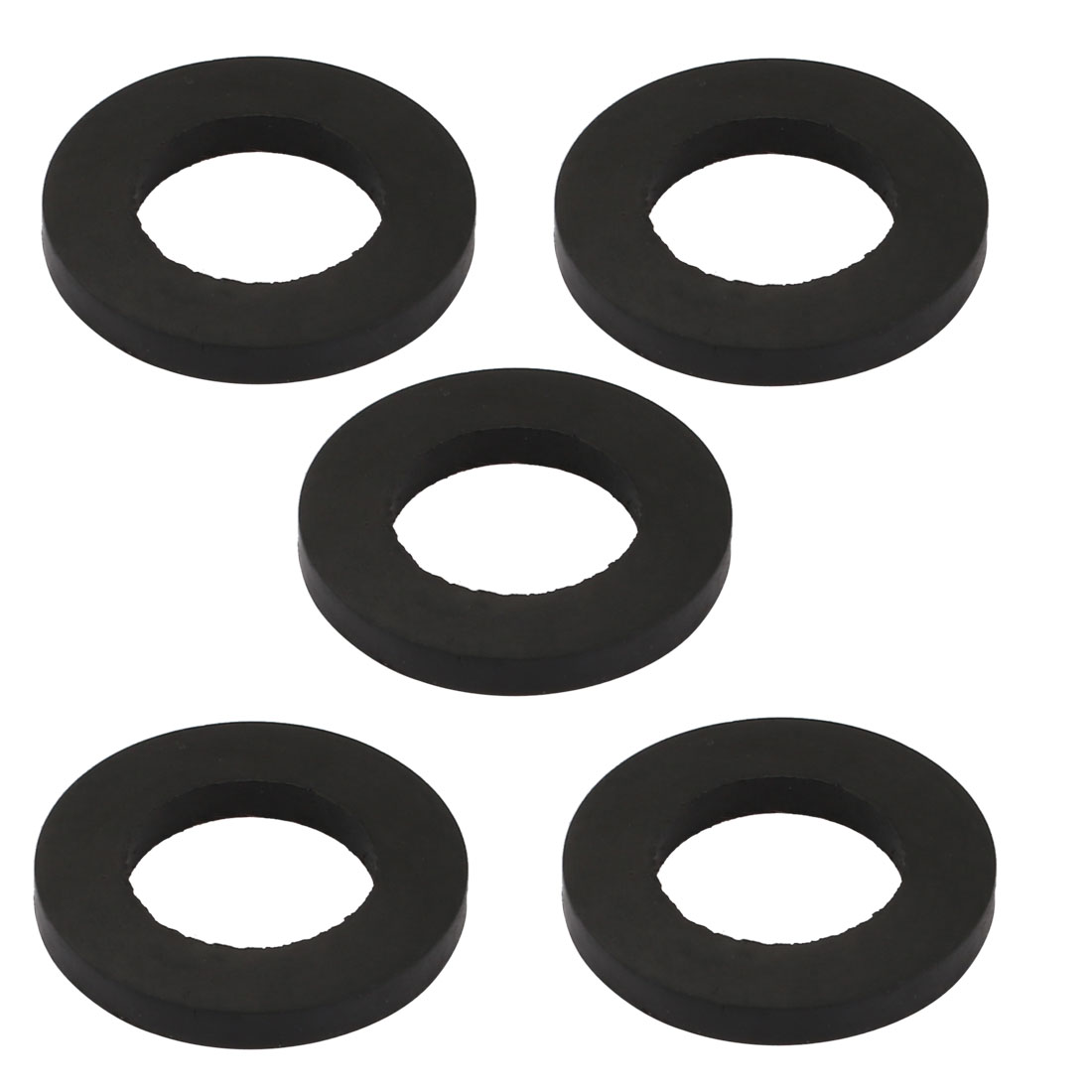 5pcs Black Color Rubber Round Flat Washer Assortment Size 14x24x3mm Flat Washer
