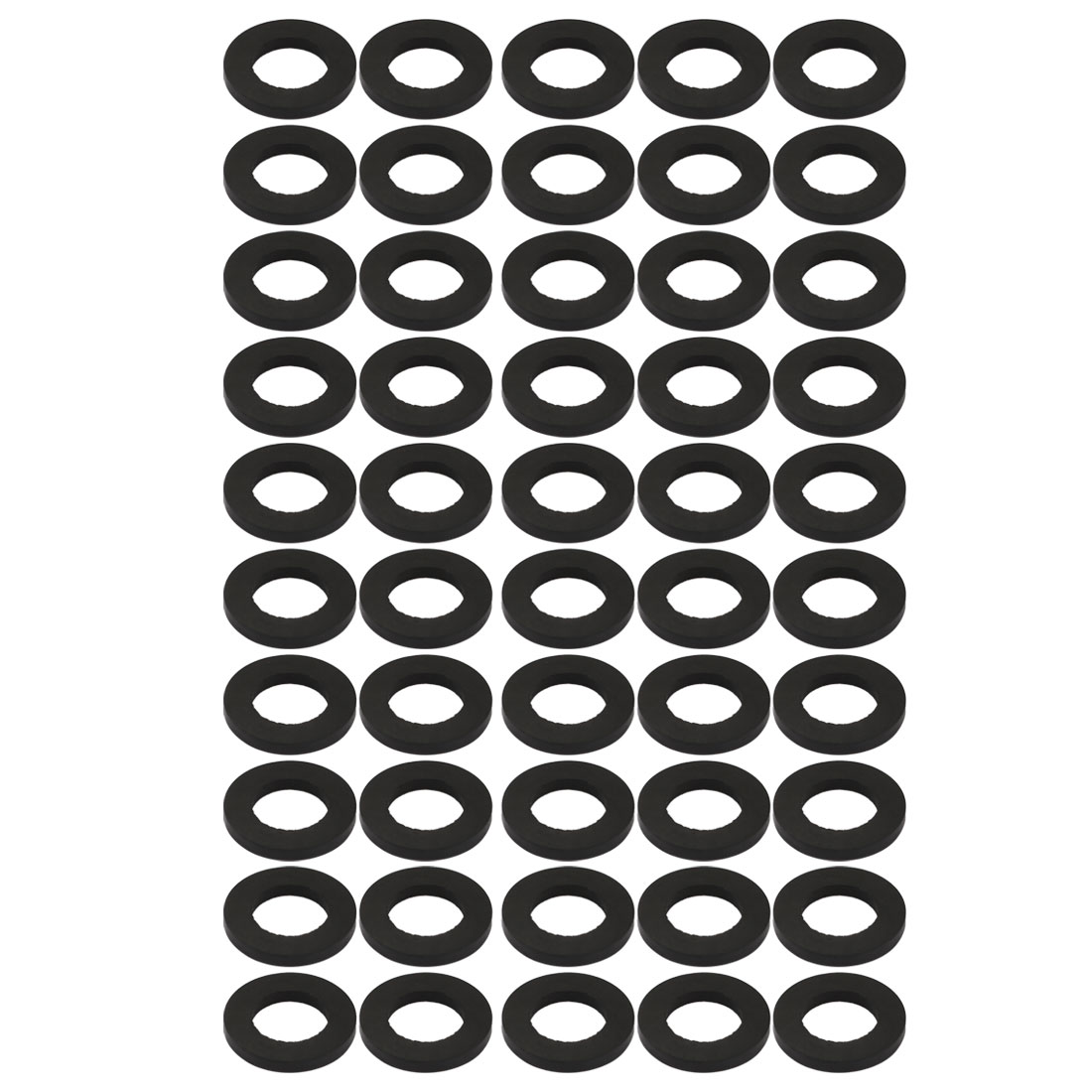 50pcs Black Color Rubber Round Flat Washer Assortment Size 14x24x3mm Flat Washer