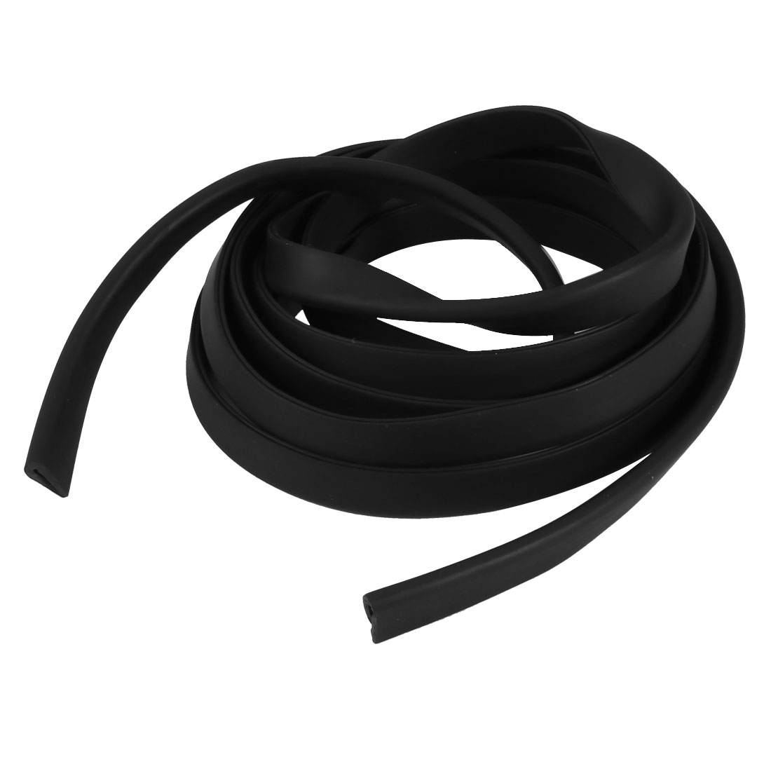 2M Length 1mm Groove Width 10mm Height Rubber Hollow Air Sealed Seal Strip Black