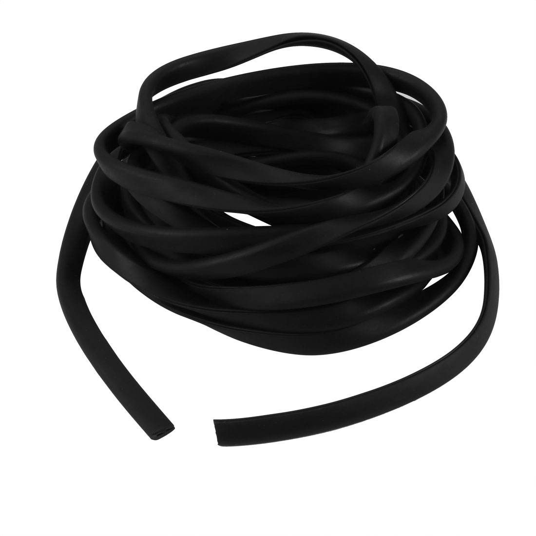 5M Long 0.5mm Groove Wide 8mm Height Rubber Hollow Air Sealed Seal Strip Black