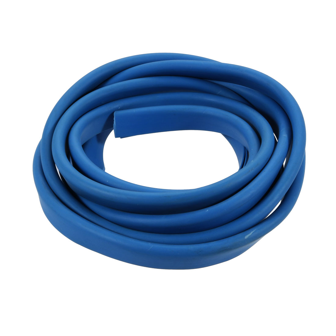 2M Long 2mm Groove Wide 13mm Height Rubber Hollow Air Sealed Seal Strip Blue