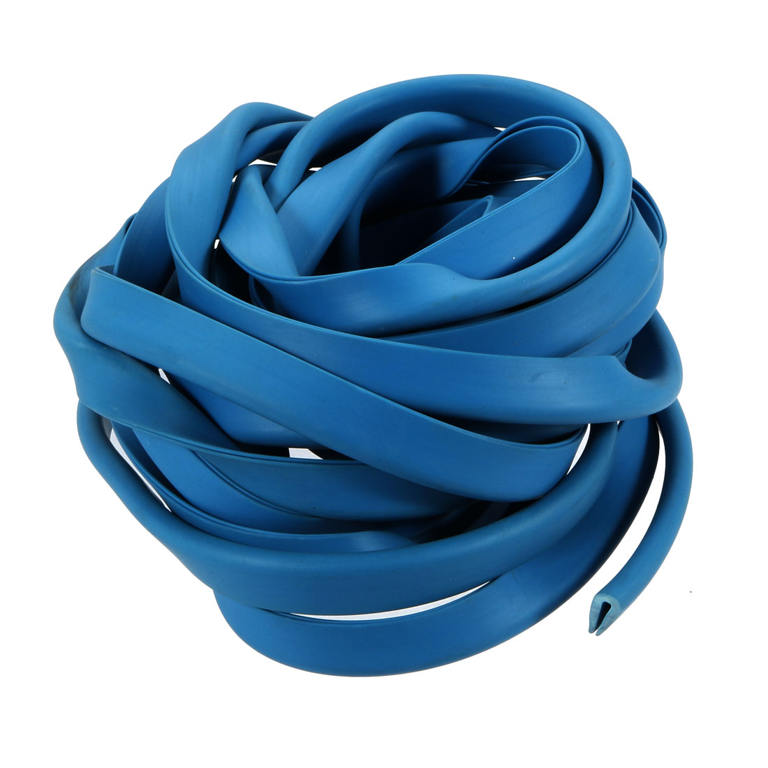 5M Long 2mm Groove Wide 13mm Height Rubber Hollow Air Sealed Seal Strip Blue