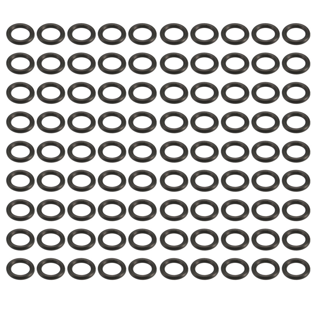 100pcs Black 2.9mm Outer Dia 0.8mm Thickness Sealing Ring O-shape Rubber Grommet