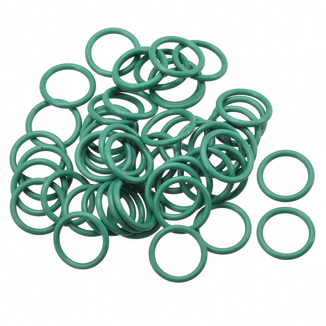 50pcs 13mm x 1.5mm Size Mechanical Rubber O Ring Oil Seal Gaskets Green