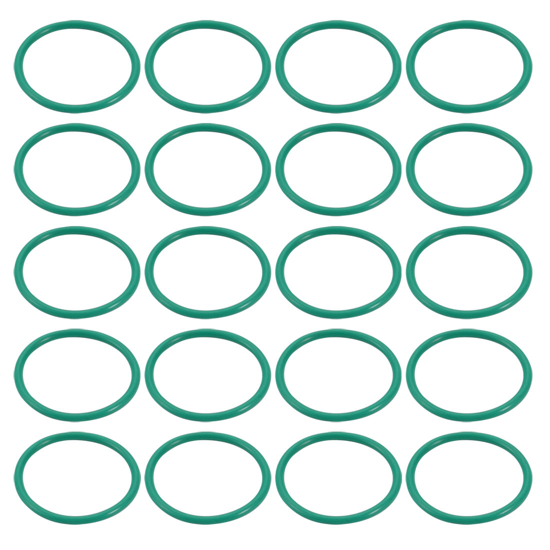 20pcs 26mm x 1.9mm Size Mechanical Rubber O Ring Oil Seal Gaskets Green