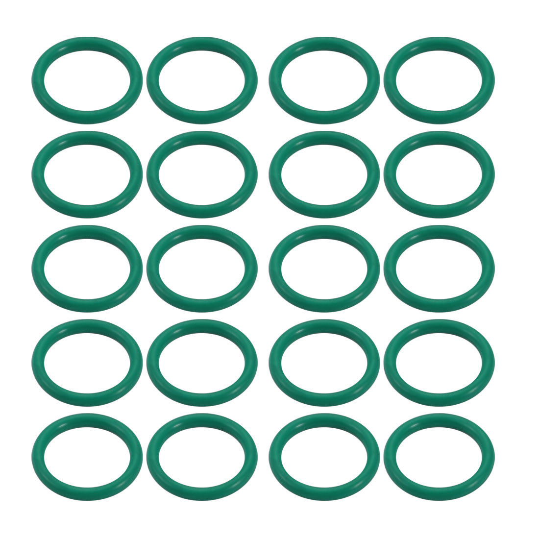 20pcs 12mm x 1.5mm Size Mechanical Rubber O Ring Oil Seal Gaskets Green