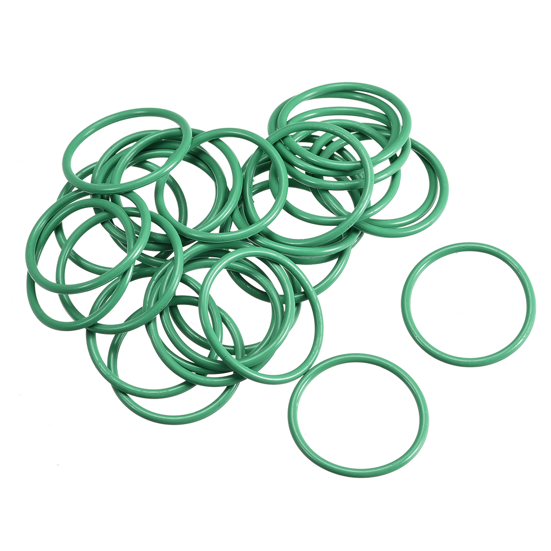 30pcs 21mm x 1.5mm Size Mechanical Rubber O Ring Oil Seal Gaskets Green