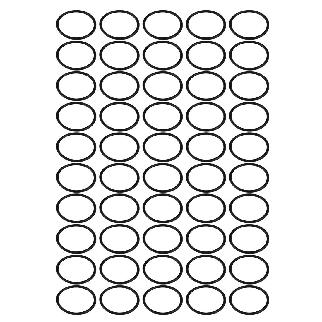 50pcs 23mm x 1.5mm Mechanical Rubber O Ring Oil Seal Black