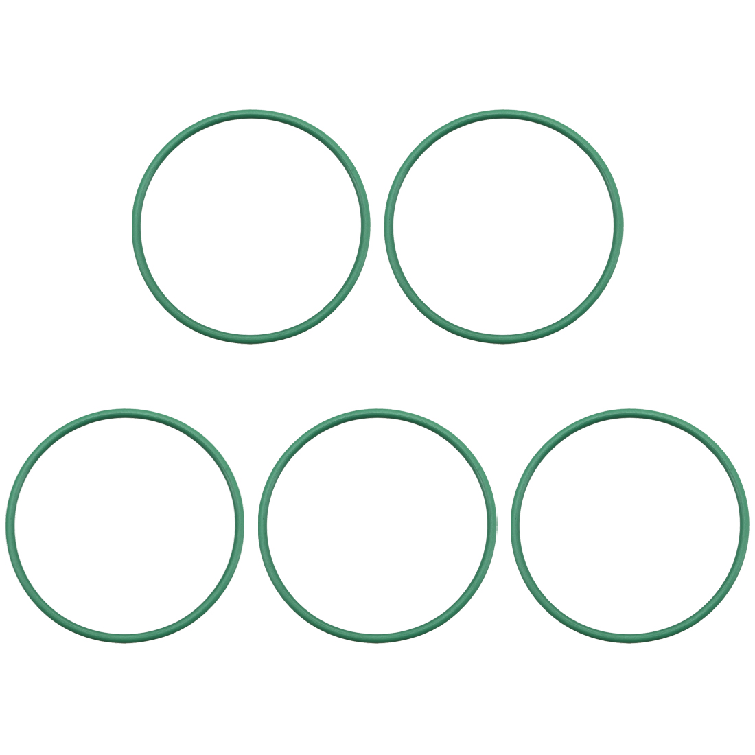 5pcs 40mm x 1.9mm Size Mechanical Rubber O Ring Oil Seal Gaskets Green