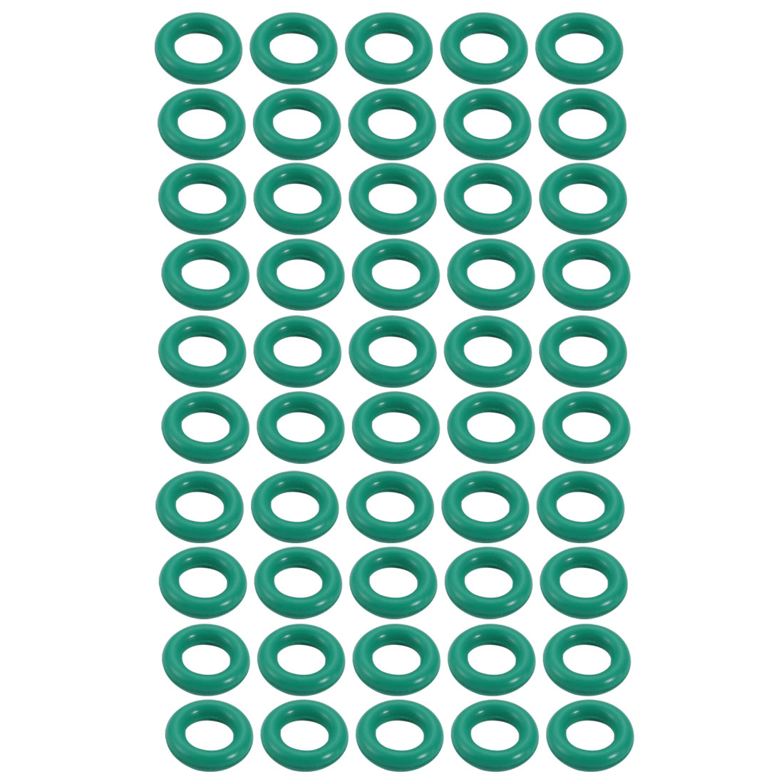 50pcs 8.5mm x 1.9mm Size Mechanical Rubber O Ring Oil Seal Gaskets Green