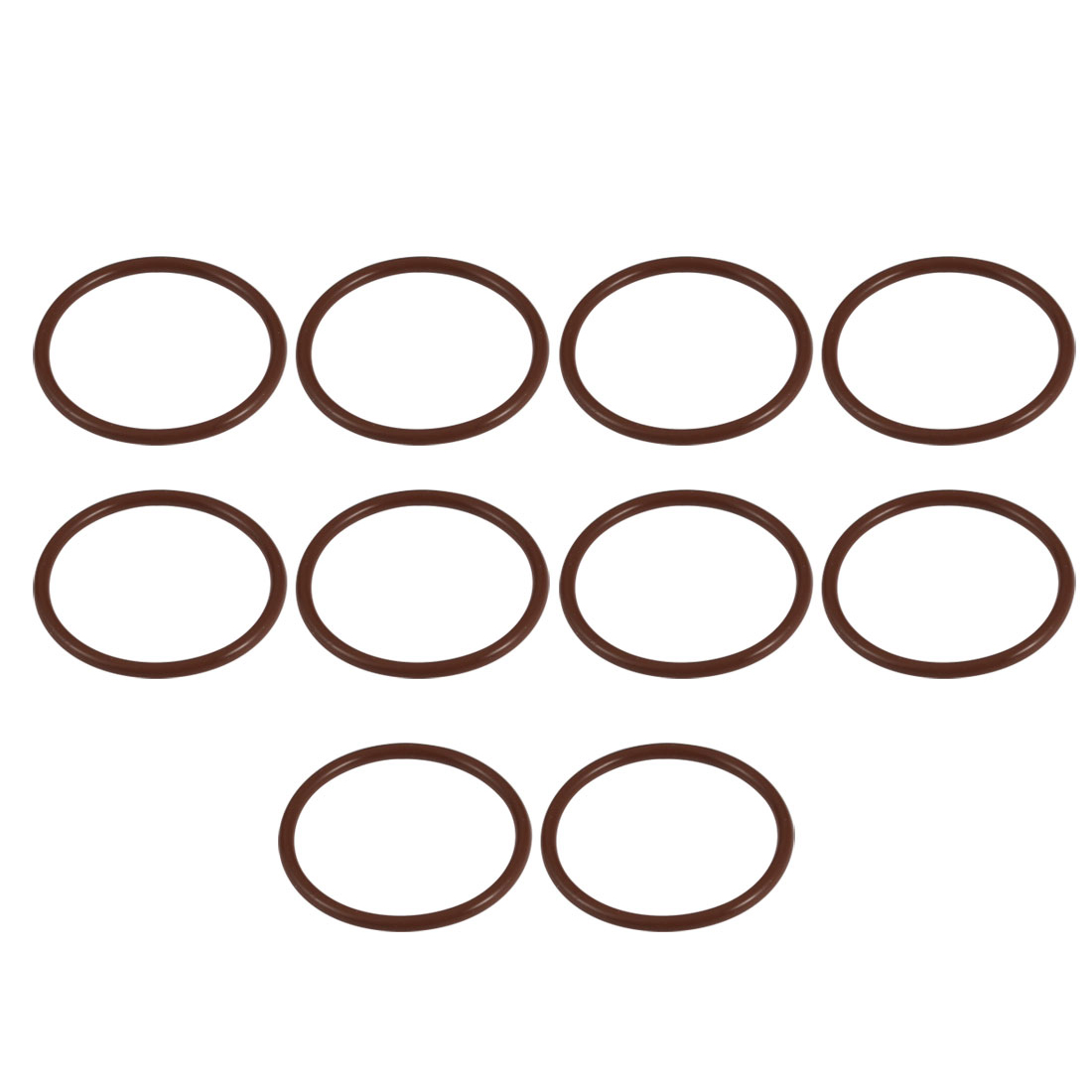 10pcs 29mm x 1.9mm Size Mechanical Rubber O Ring Oil Seal Gaskets Brown