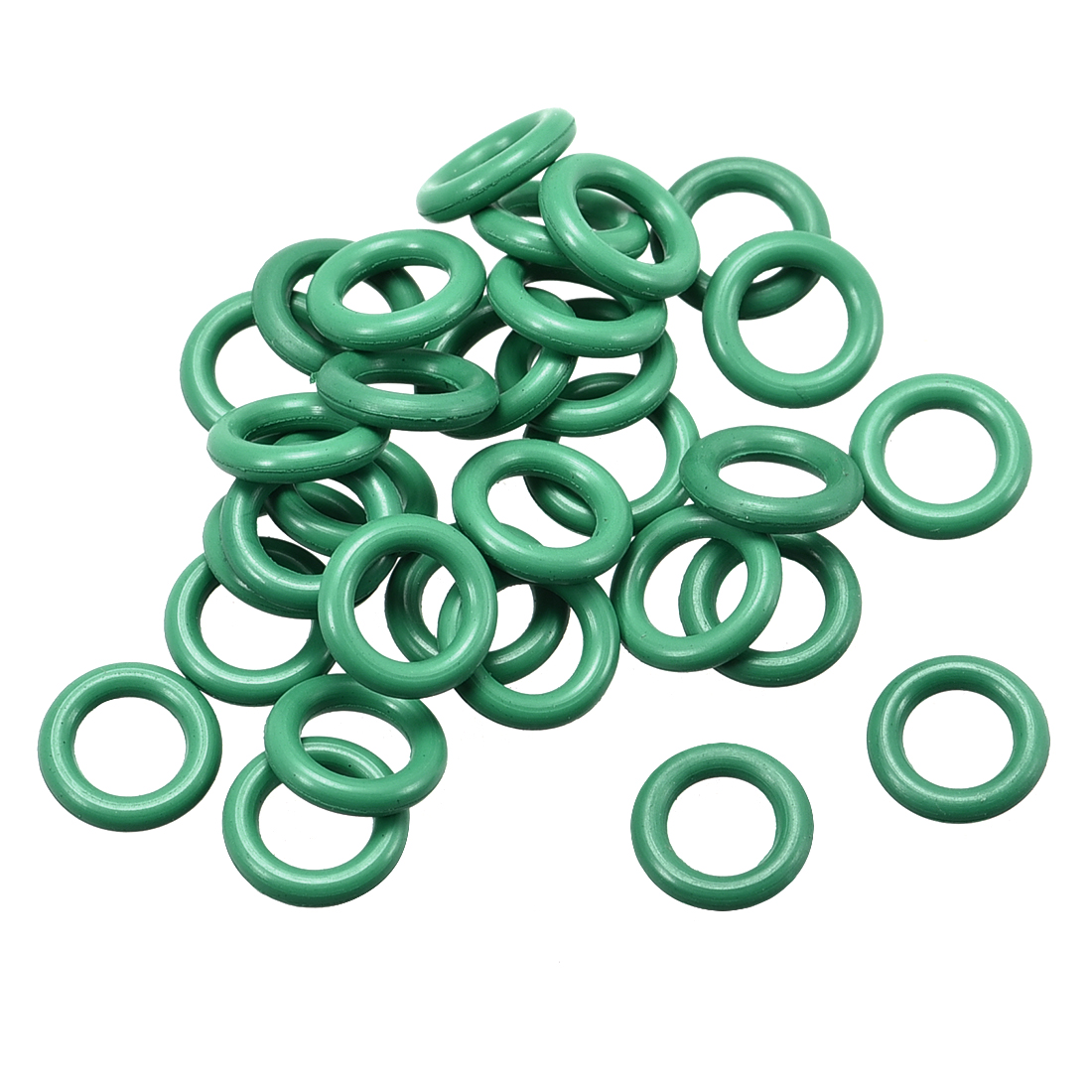 30pcs Green 7.5mm Outer Dia 1.5mm Thickness Sealing Ring O-shape Rubber Grommet