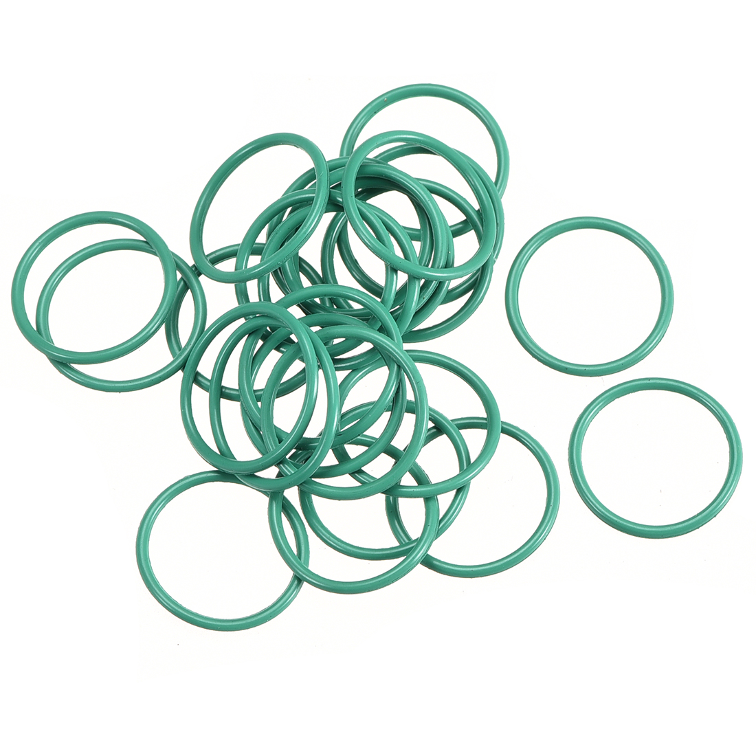 30pcs 13mm x 1mm Size Mechanical Rubber O Ring Oil Seal Gaskets Green