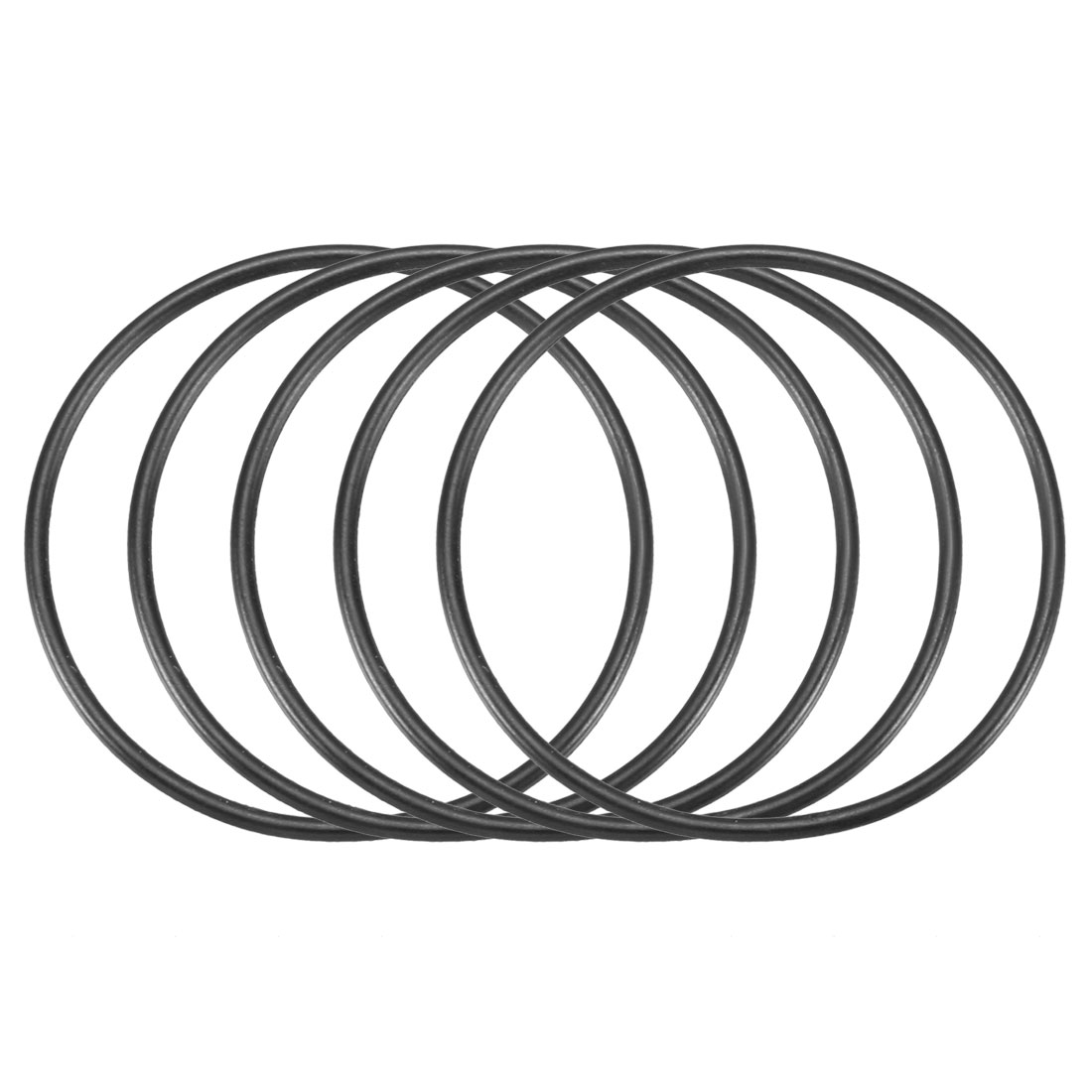 30pcs Black 39mm Outer Dia 1.5mm Thickness Sealing Ring O-shape Rubber Grommet