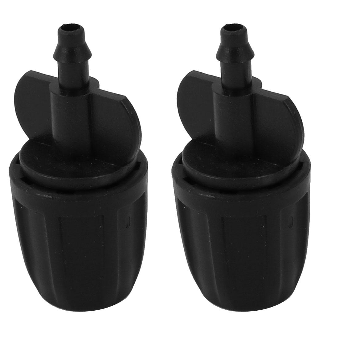 Garden Hose Nozzle Splitter 8/11 mm Single Way Barb Hose Connector Black 2pcs