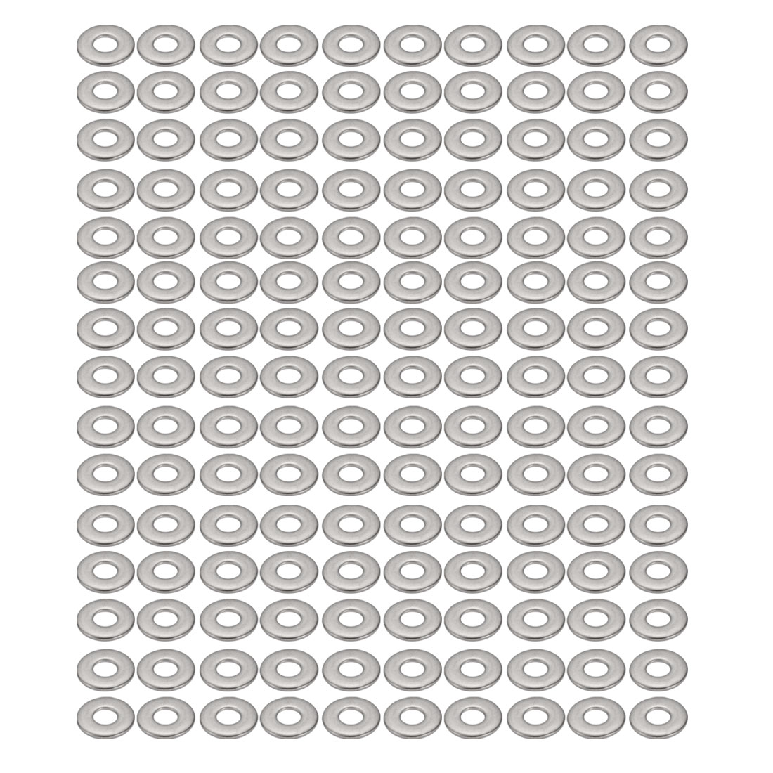 M3x9mmx0.8mm DIN9021 304 Stainless Steel Flat Washer Silver Tone 150pcs