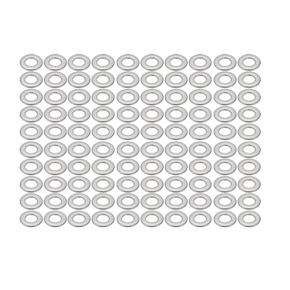 M4x9mmx0.8mm DIN125 316 Stainless Steel Flat Washer Silver Tone 100pcs