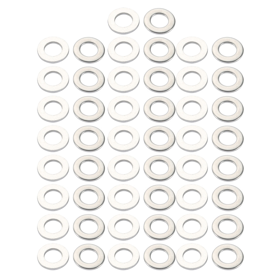 M10x20mmx2mm DIN125 316 Stainless Steel Flat Washer Silver Tone 50pcs