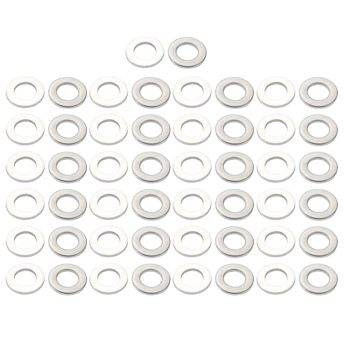 M12x24mmx2.5mm DIN125 316 Stainless Steel Flat Washer Silver Tone 50pcs
