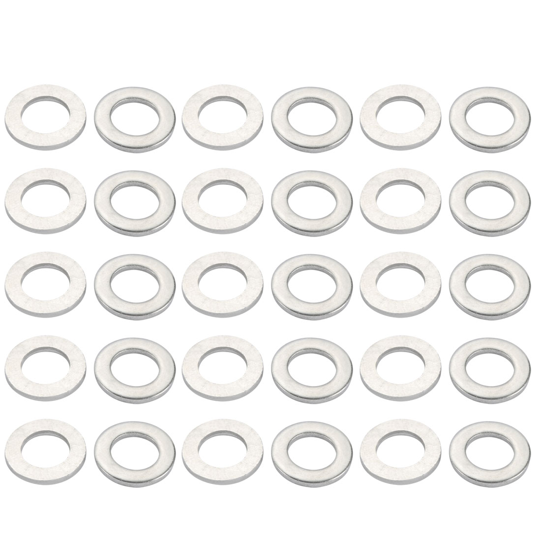M16x30mmx3mm DIN125 316 Stainless Steel Flat Washer Silver Tone 30pcs