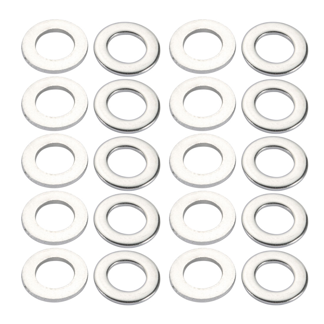 M18x34mmx3mm DIN125 316 Stainless Steel Flat Washer Silver Tone 20pcs