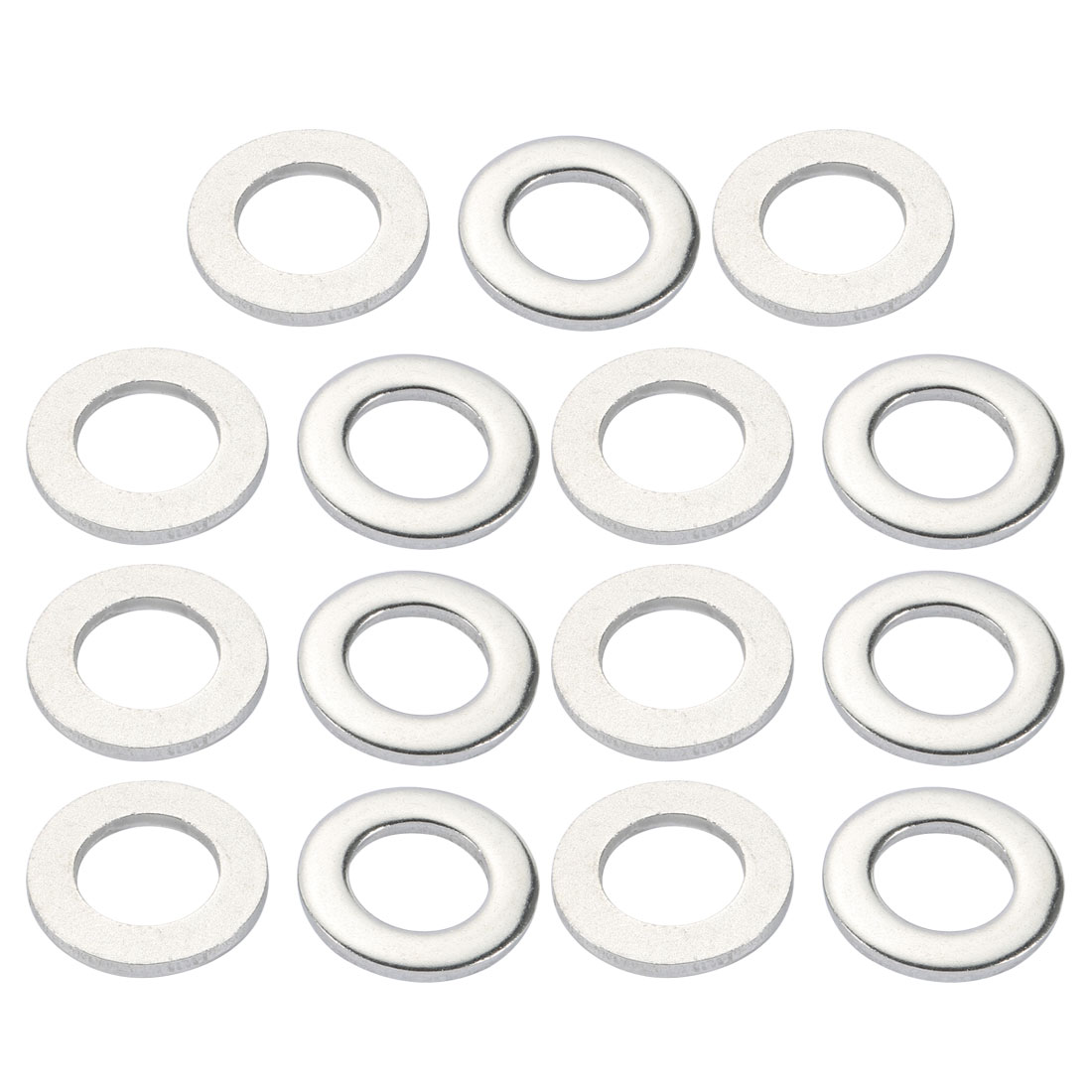 M24x44mmx4mm DIN125 316 Stainless Steel Flat Washer Silver Tone 15pcs