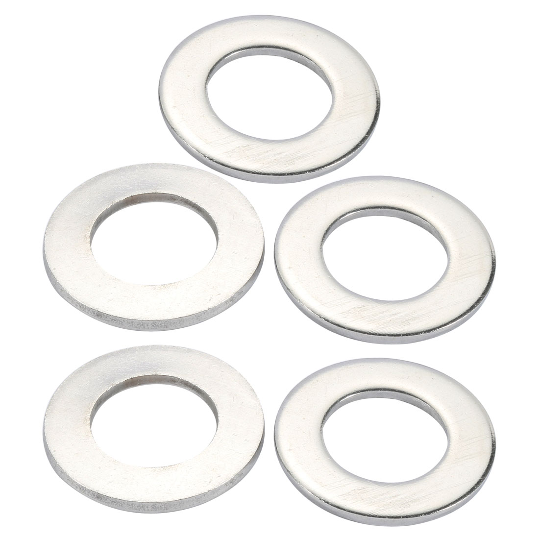 M30x56mmx4mm DIN125 316 Stainless Steel Flat Washer Silver Tone 5pcs