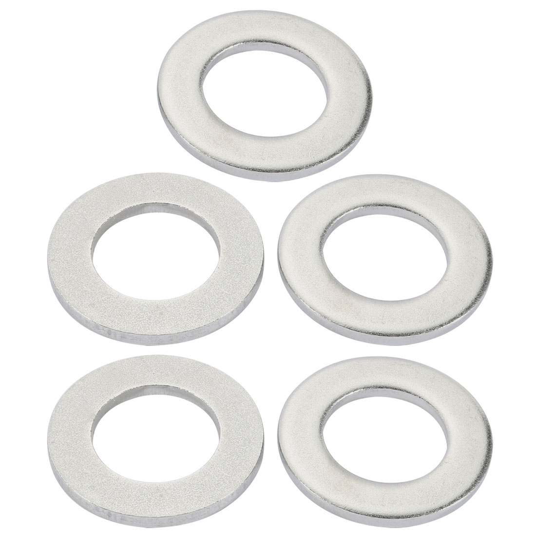 M33x60mmx5mm DIN125 316 Stainless Steel Flat Washer Silver Tone 5pcs
