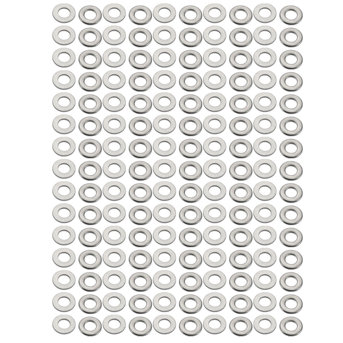 M4x9mmx0.8mm DIN125 316 Stainless Steel Flat Washer Silver Tone 150pcs