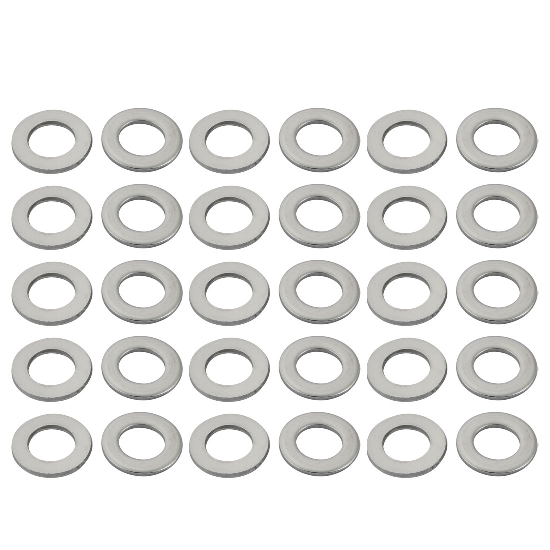 M18x34mmx3mm DIN125 316 Stainless Steel Flat Washer Silver Tone 30pcs
