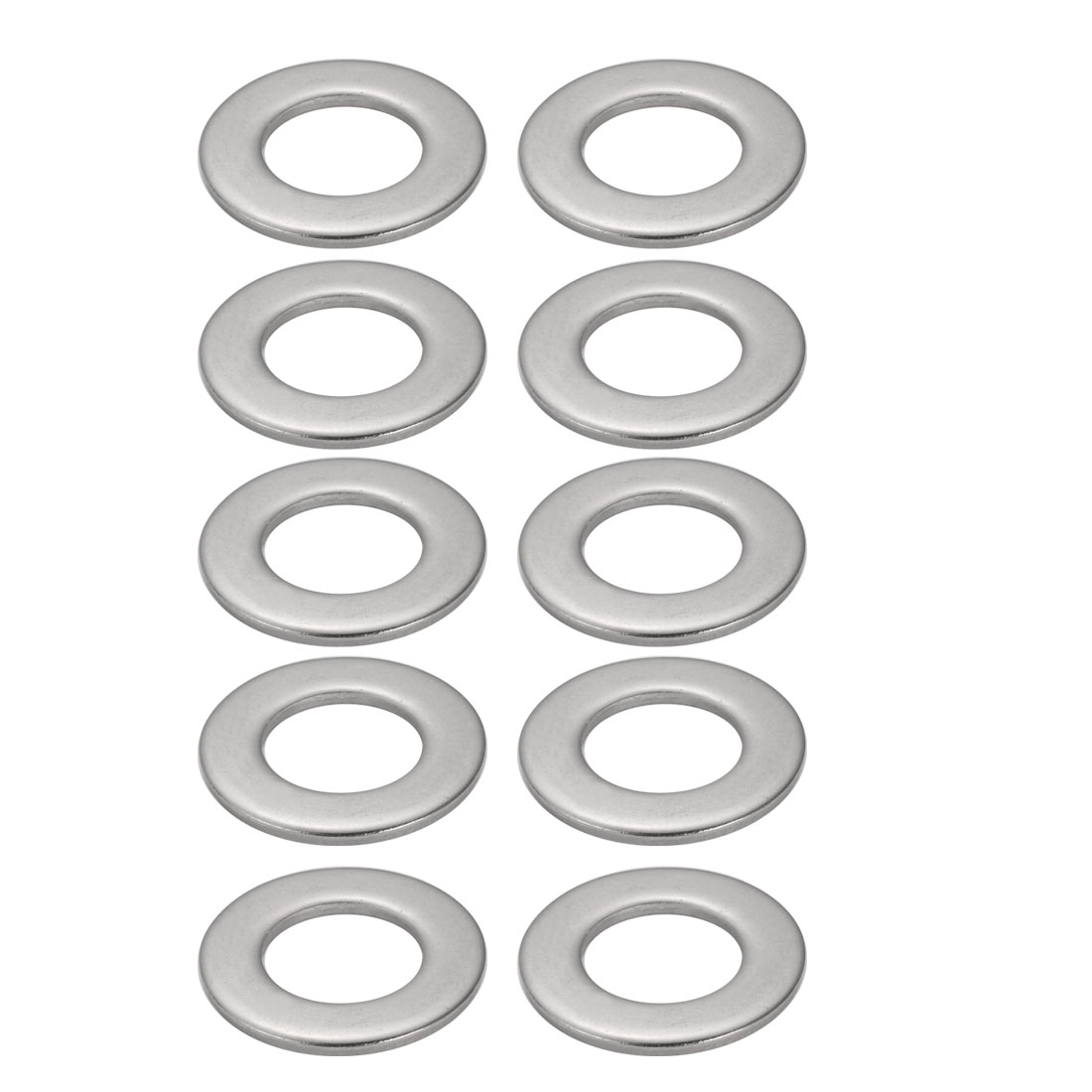 M30x56mmx4mm DIN125 316 Stainless Steel Flat Washer Silver Tone 10pcs