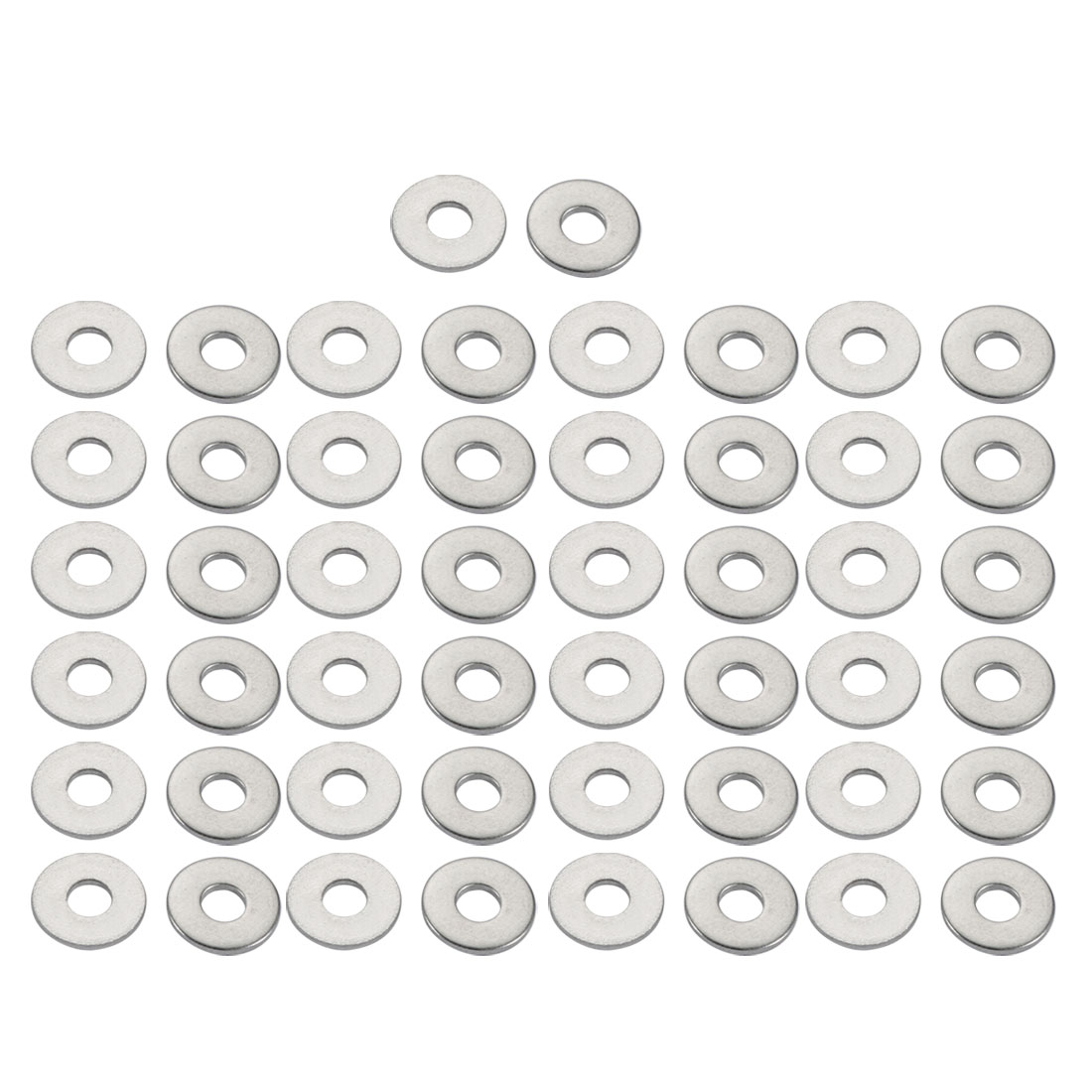 M3x9mmx0.8mm DIN9021 316 Stainless Steel Flat Washer Silver Tone 50pcs