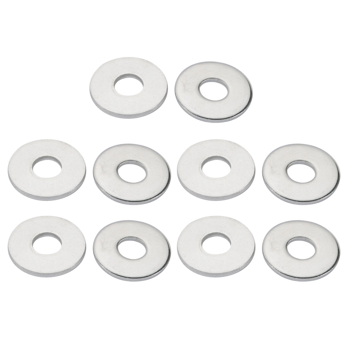 M12x37mmx3mm DIN9021 316 Stainless Steel Flat Washer Silver Tone 10pcs