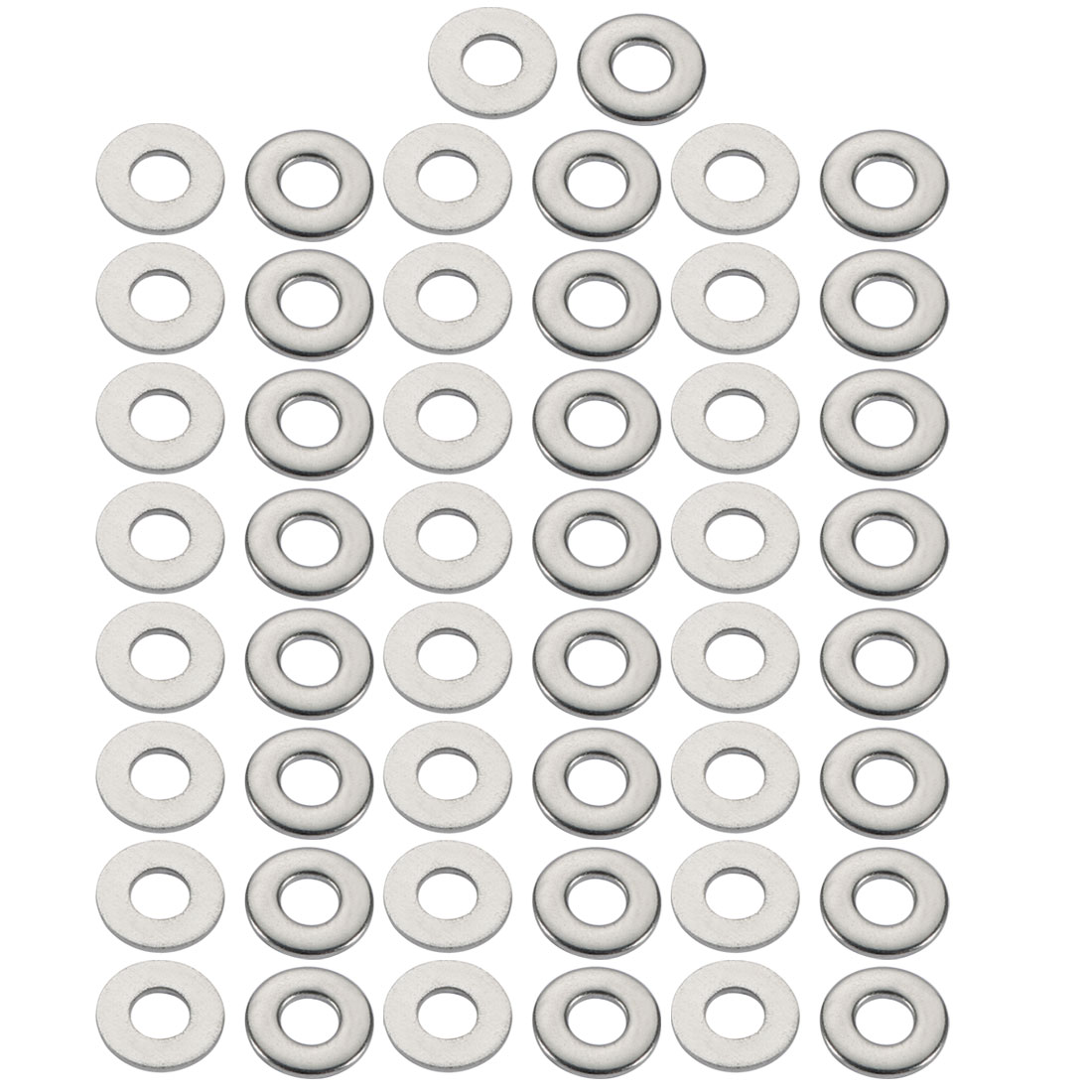 M4x10mmx1mm DIN125 304 Stainless Steel Flat Washer Silver Tone 50pcs