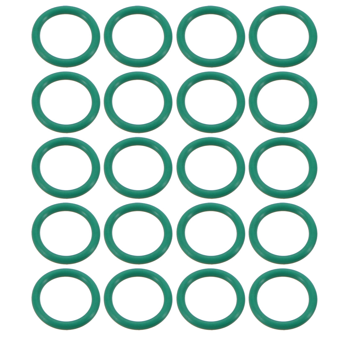 20pcs Green 12mm Outer Dia 1.5mm Thickness Sealing Ring O-shape Rubber Grommet