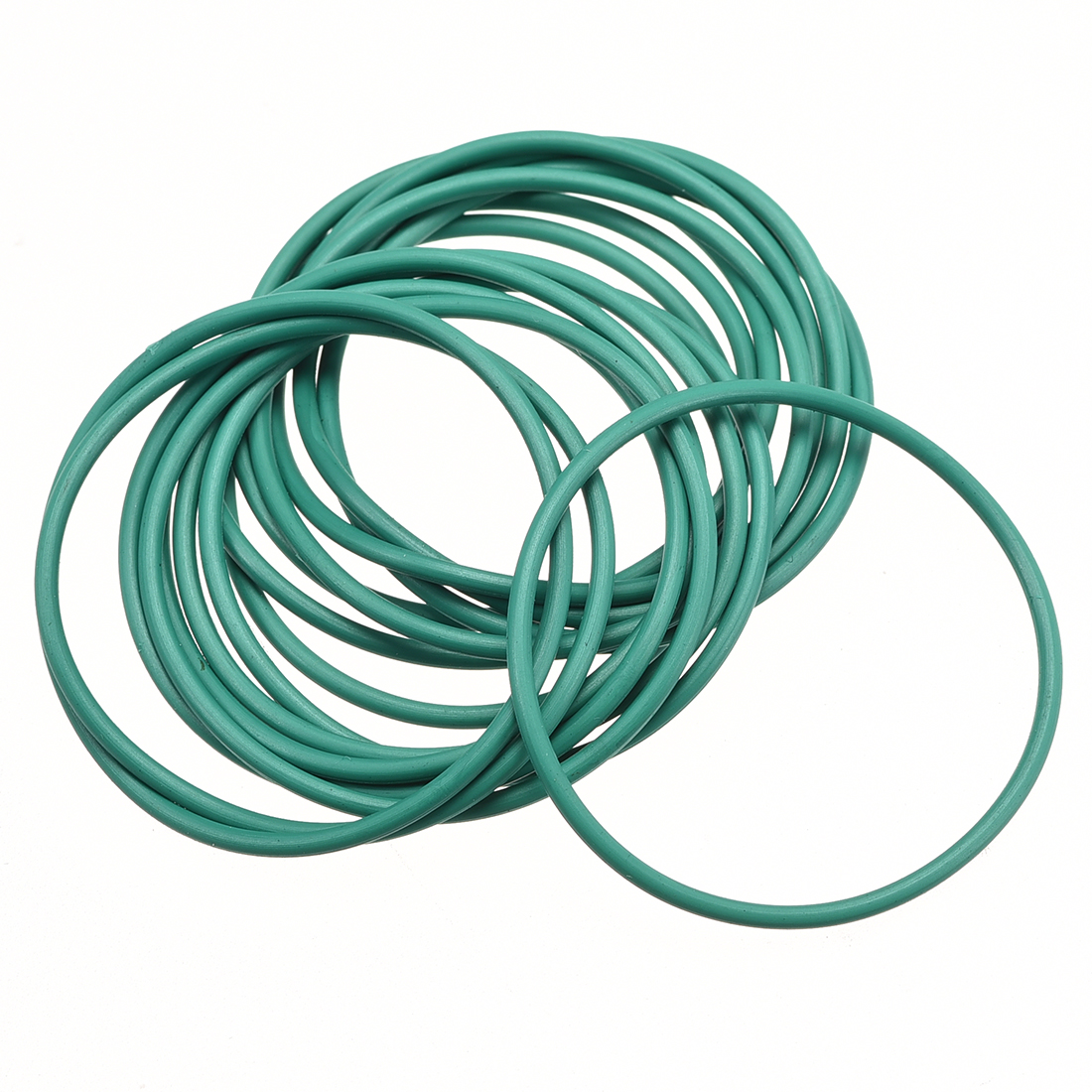 15pcs Green 31mm Outer Dia 1.5mm Thickness Sealing Ring O-shape Rubber Grommet