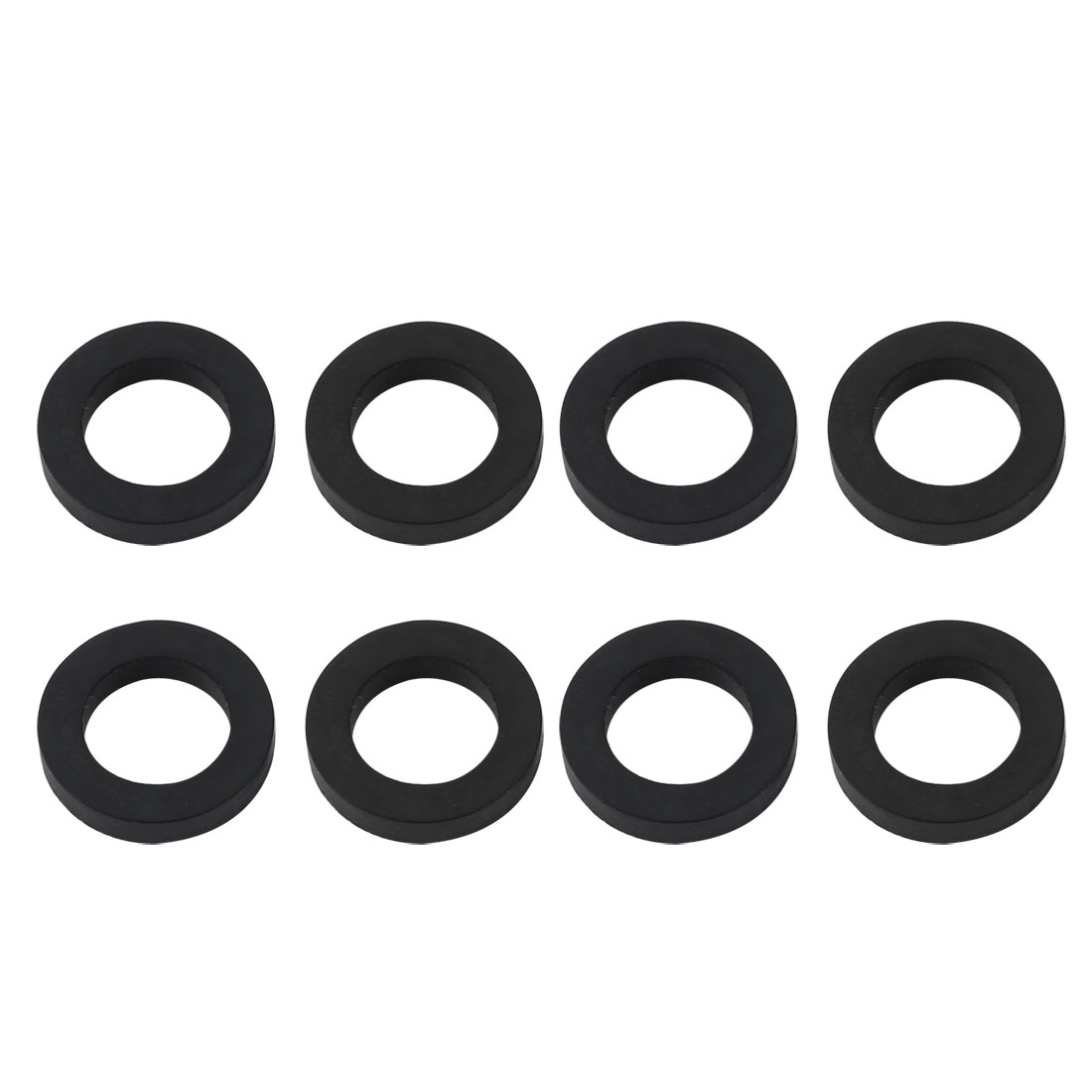 8pcs 16mm Outer Dia 3mm Thickness Sealing Ring O-shape Rubber Grommet Black