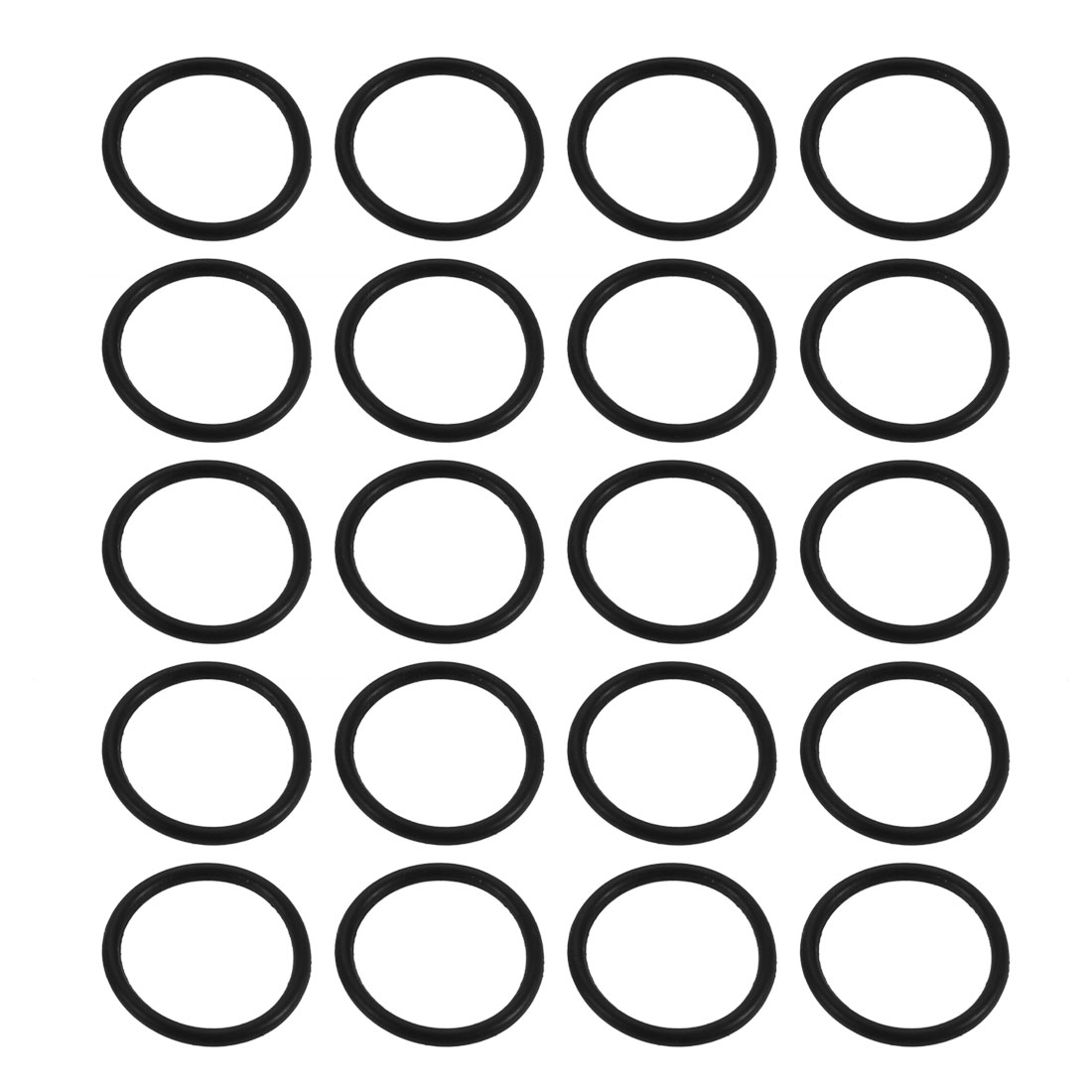 20pcs Black 11mm Outer Dia 1mm Thickness Sealing Ring O-shape Rubber Grommet