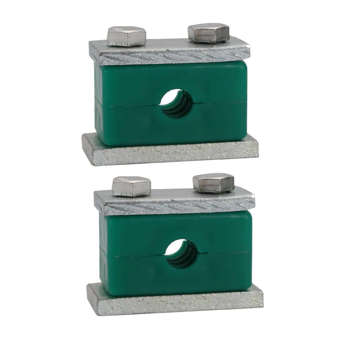 12mm Fitting Dia Polypropylene Aluminum Heavy Series Hose Pipe Tube Clamp 2pcs