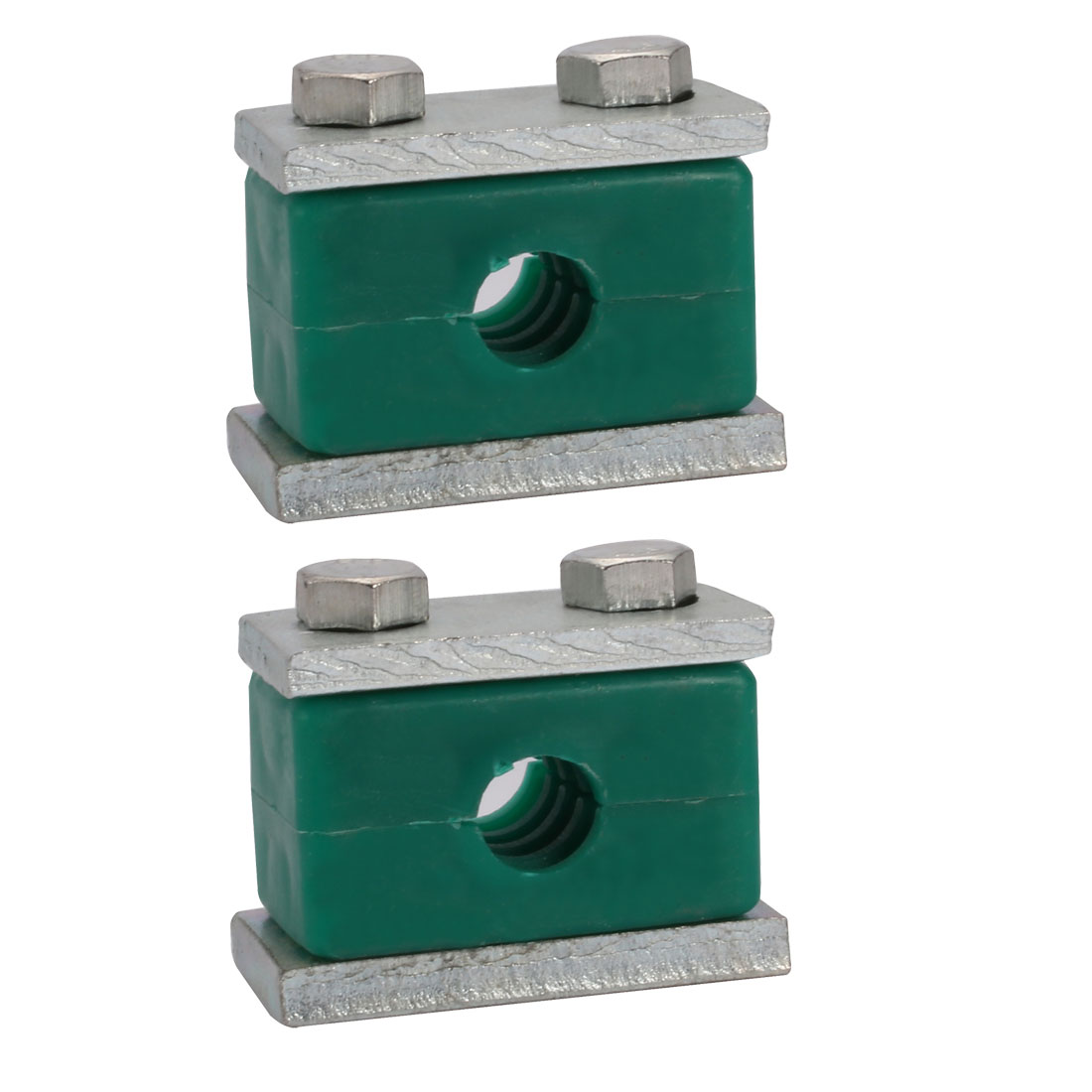 14mm Fitting Dia Polypropylene Aluminum Heavy Series Hose Pipe Tube Clamp 2pcs