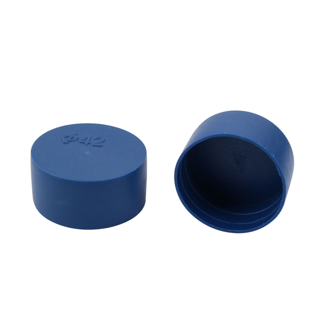12pcs 42mm Inner Dia PE Plastic End Cap Bolt Thread Protector Tube Cover Blue