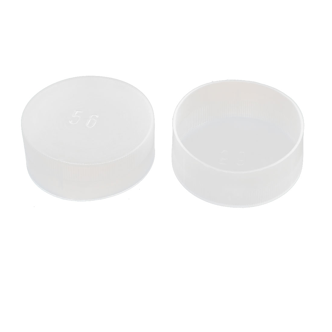 2pcs White Plastic Thread Round Cabinet Chair Leg Insert Cover Protector