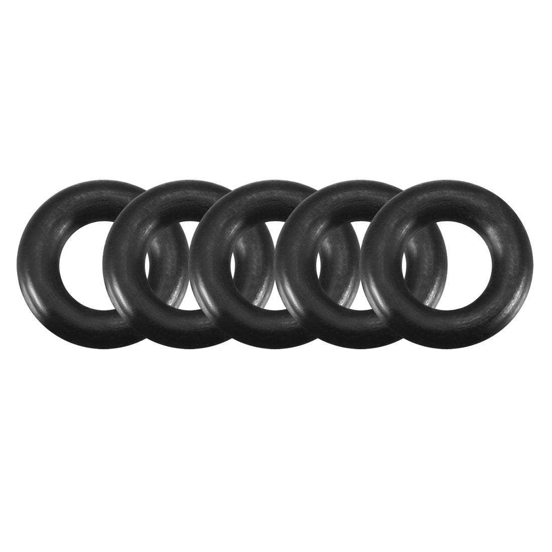 5pcs Black Nitrile Butadiene Rubber NBR O-Ring 3.8mm Inner Dia 1.9mm Width